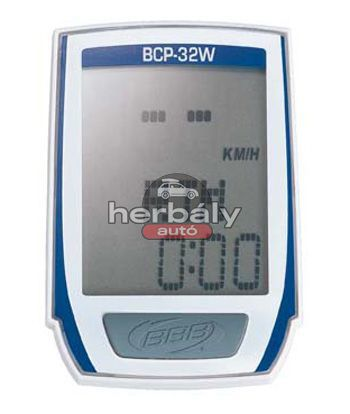 BBB MicroBoard BCP-32W kerékpár computer - 13 funkciós, team kék
