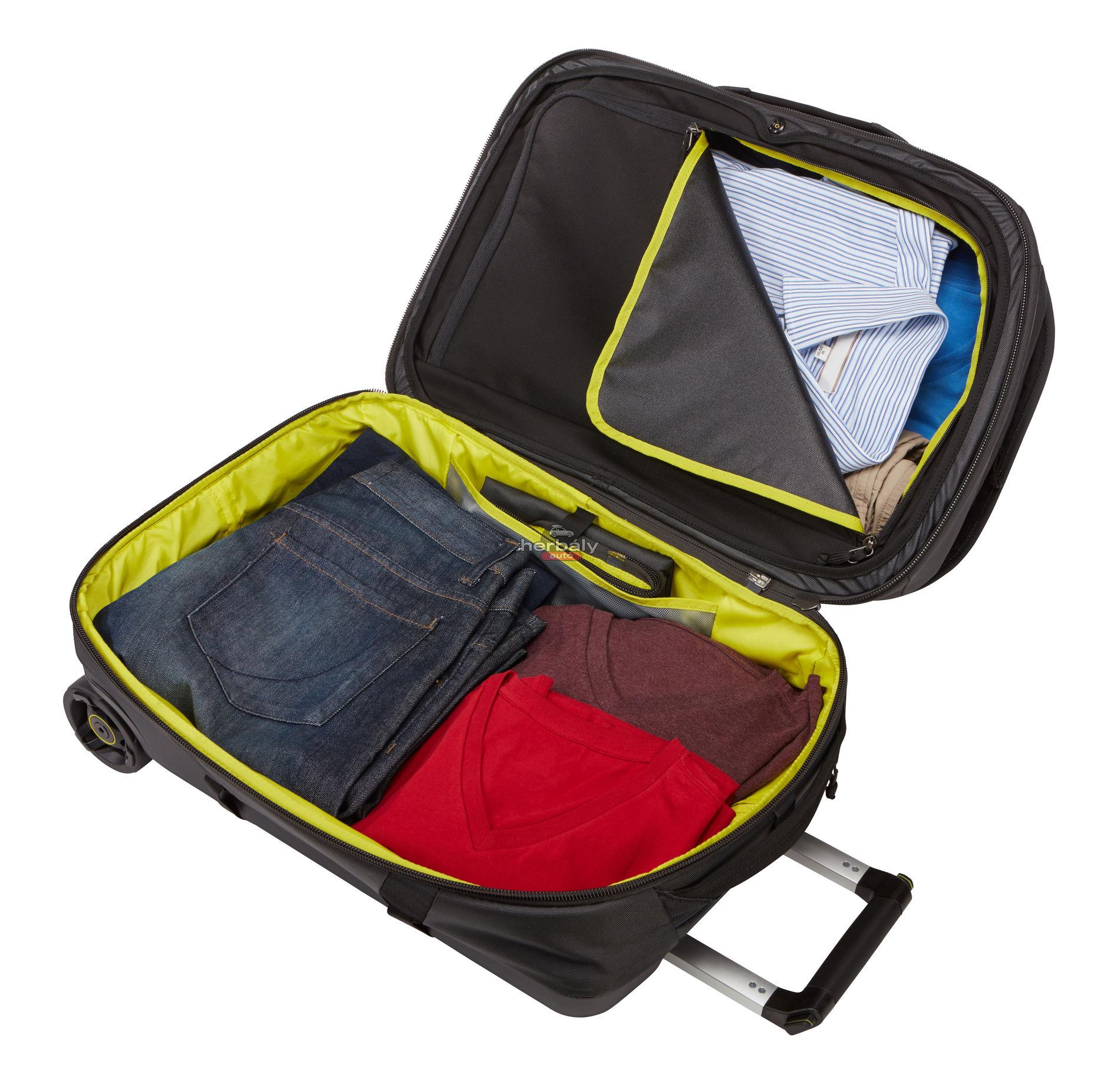 Thule Subterra TSR-356DSH 56L gurulós bőrönd, fekete